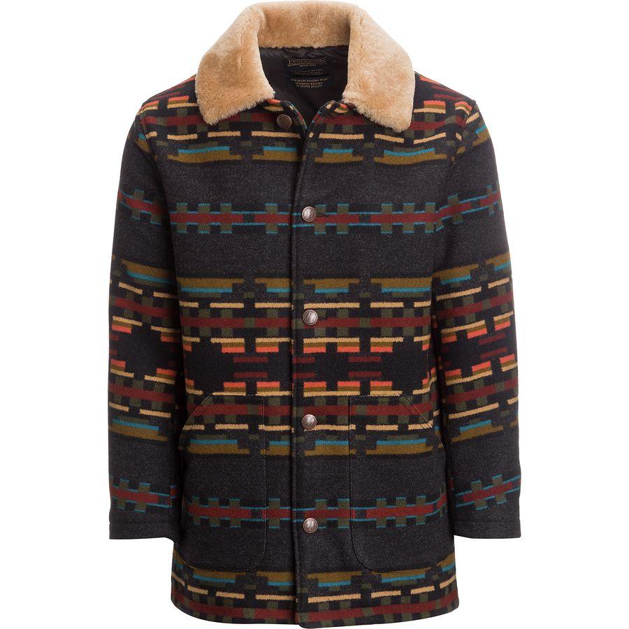 Pendleton Brownsville Shearling Collar Coat - Mens