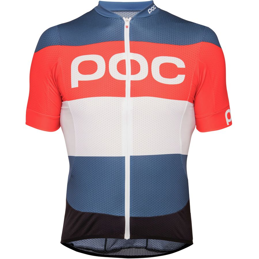 POC - Essential Road Logo Jersey - Men s - Prismane Multi Red f7719ebdb