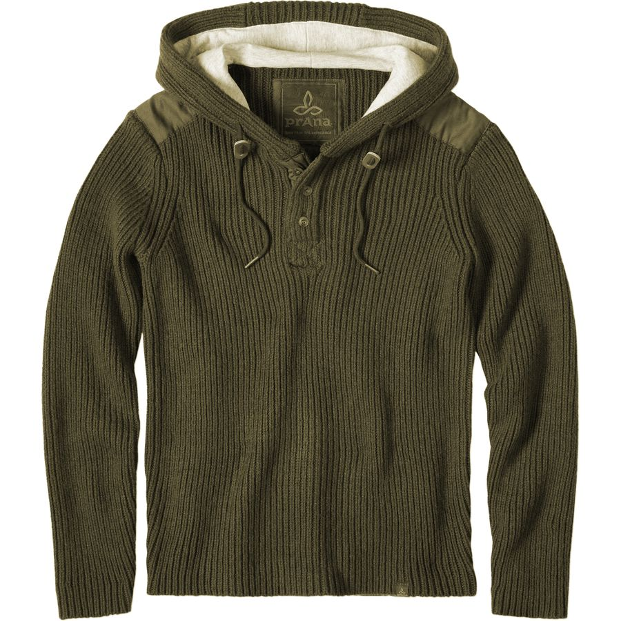 Prana Henley Hooded Sweater - Men's | Backcountry.com