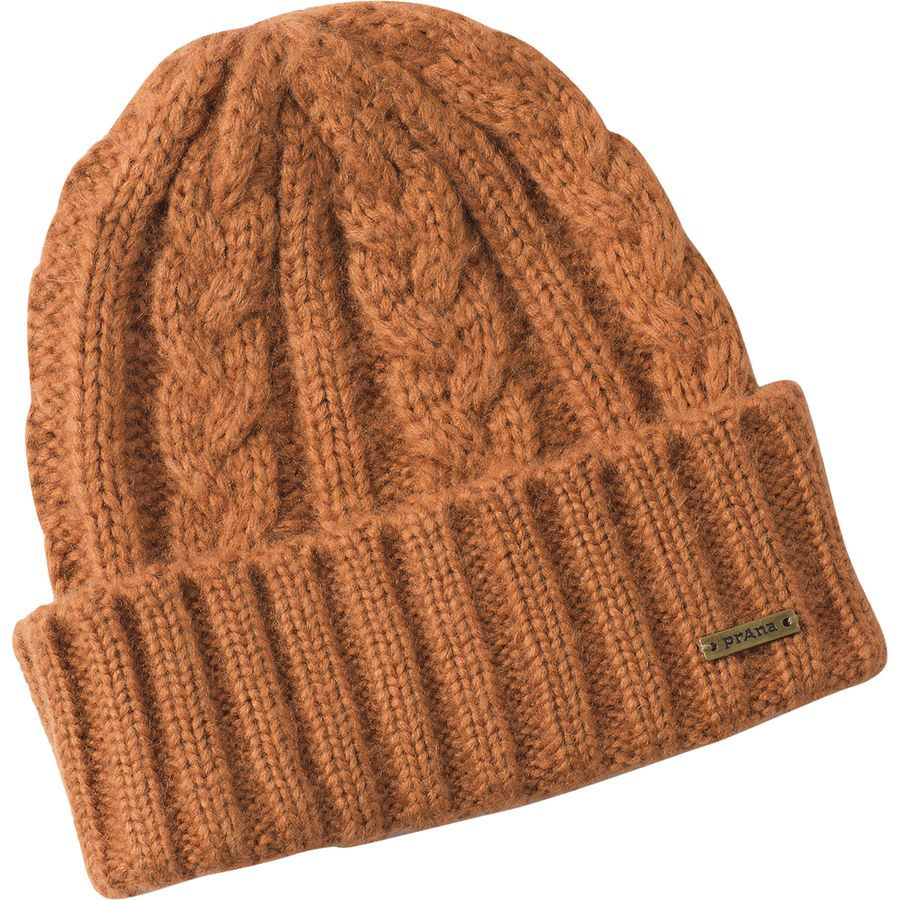 19bcfd3e118 Prana - Cable Knit Beanie - Men s - Burnt Caramel