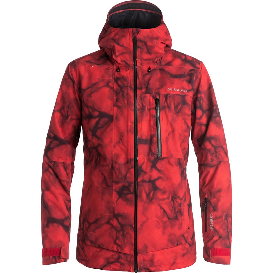 quiksilver impact printed gore tex jacket men 39 s steep cheap. Black Bedroom Furniture Sets. Home Design Ideas