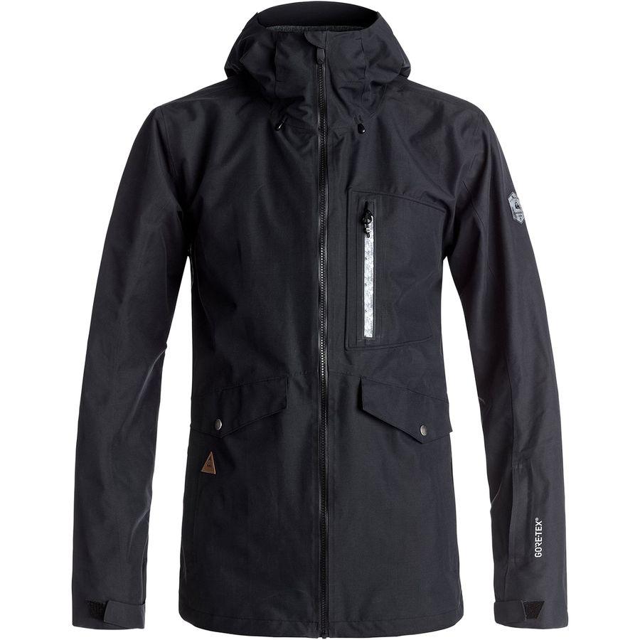Quiksilver Black Alder 2L Gore-Tex Hooded Jacket - Mens
