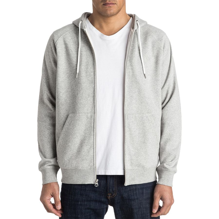 Quiksilver - Everyday Full-Zip Hoodie - Men's - Light Grey Heather