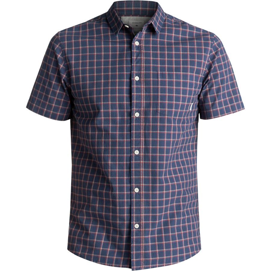 Quiksilver Everyday Check Short-Sleeve Button-Down Shirt - Mens