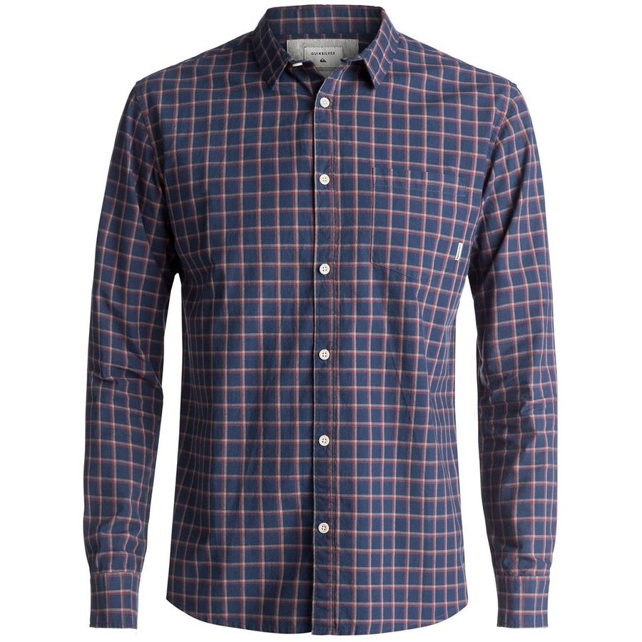 Quiksilver Everyday Check Long-Sleeve Button-Down Shirt - Mens