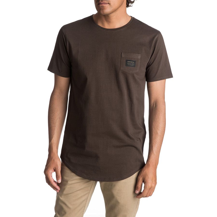 Quiksilver Scallop Tee East Woven Pocket Short-Sleeve T-Shirt - Mens