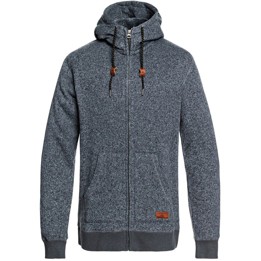 d7cd227431a Quiksilver - Keller Full-Zip Hoodie - Men s - Dark Grey Heather