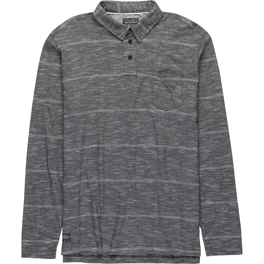 Quiksilver Waterman Home Team Long-Sleeve Polo - Mens