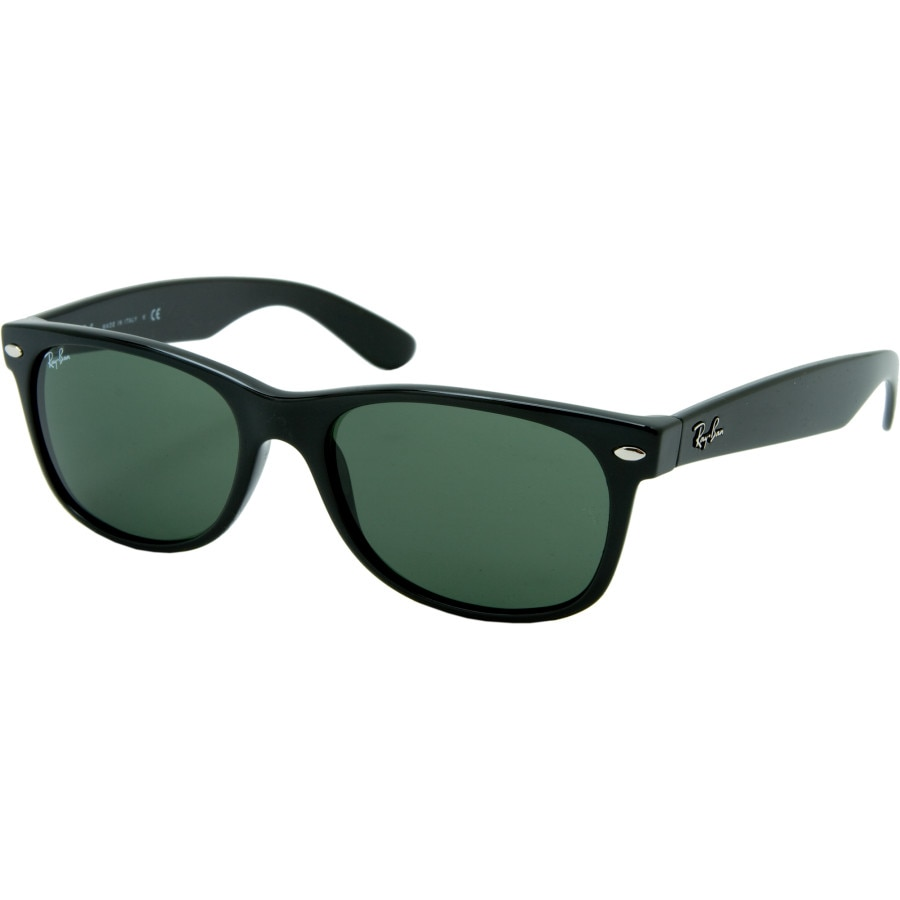 ray ban glass or polycarbonate  ray ban new wayfarer sunglasses black/crystal green