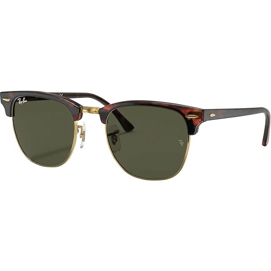 Ray-Ban - Clubmaster Sunglasses - Mock Tortoise-Arista/Crystal Green