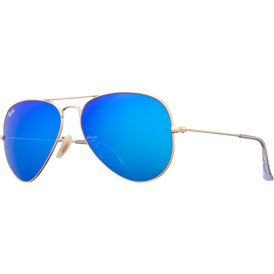 ray ban aviator sunglasses crystal  ray ban aviator large metal sunglasses matte gold/crystal blue mirror