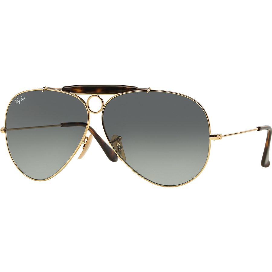 aa7618682b Ray-Ban - Outdoorsman II Sunglasses - Gold Light Grey Gradient Dark Grey