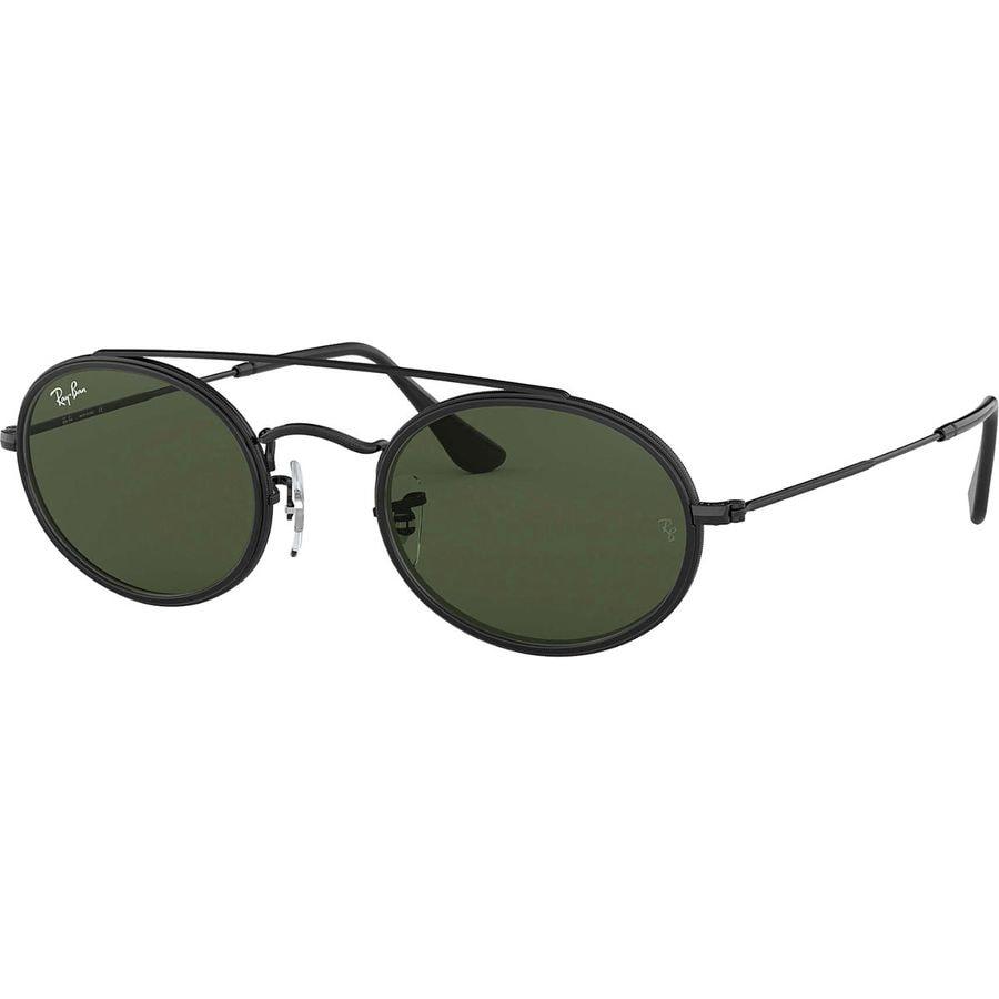2ba0e3a647 Ray-Ban - Oval Double Bridge Sunglasses - Black Green Classic G-15