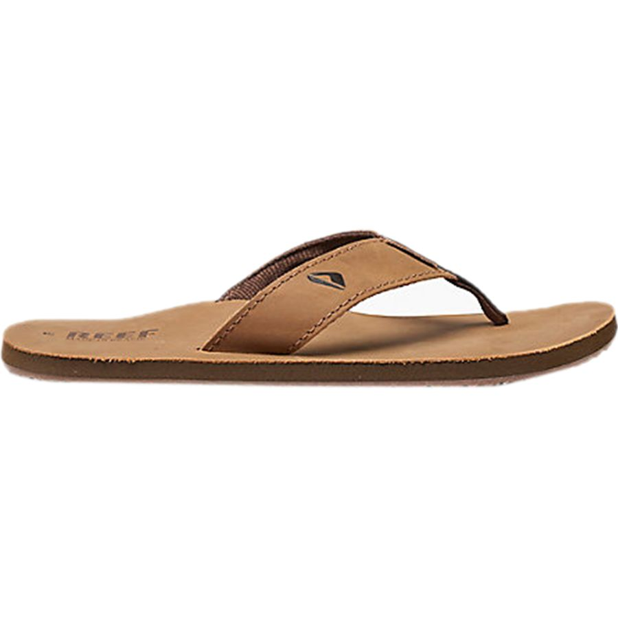 a6a4ab3b8f73 Reef - Leather Smoothy Flip Flop - Men s - Bronze Brown