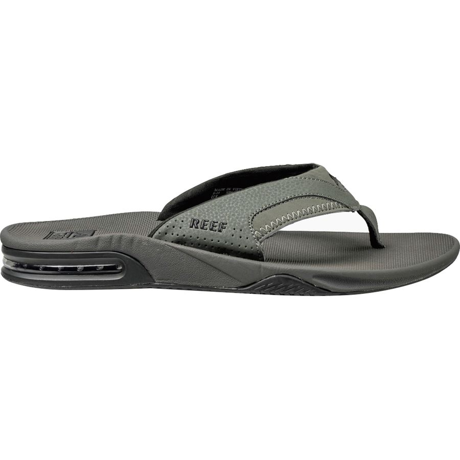 36df75d1ff0 Reef - Fanning Flip Flop - Men s - Grey Black