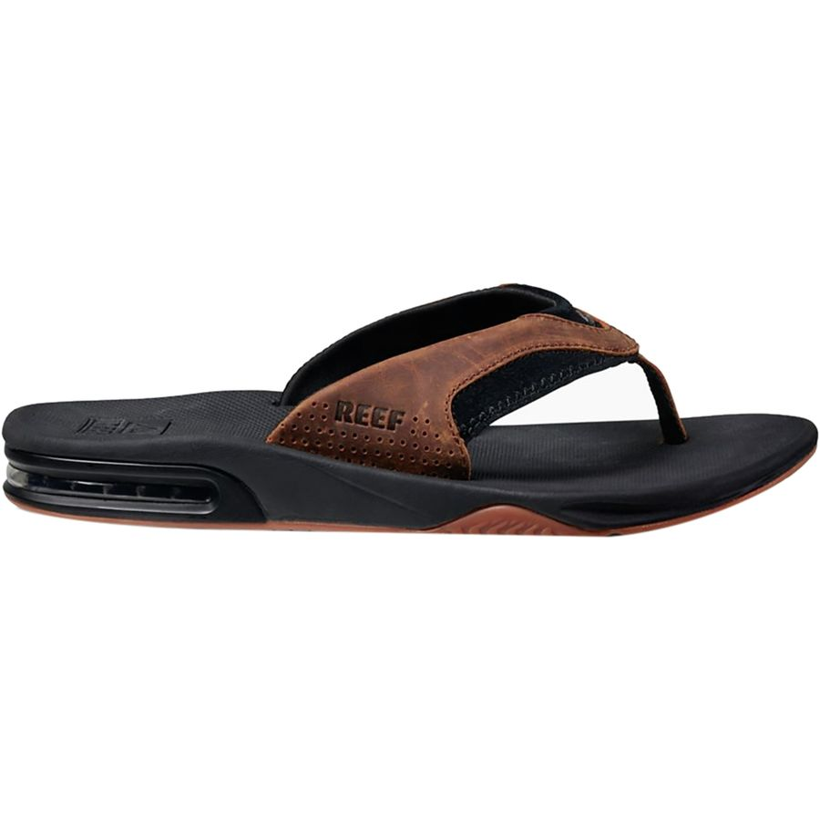 a452393d81b62 Reef Leather Fanning Flip Flops - Men's | Backcountry.com