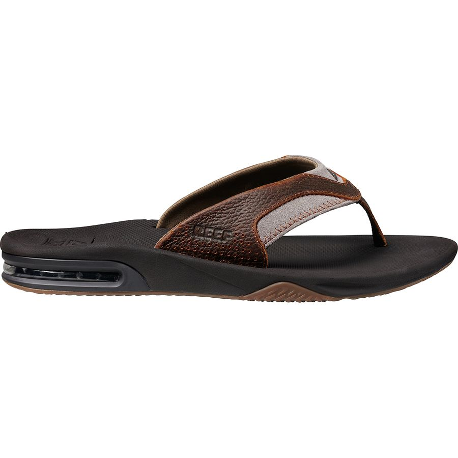 79c3872744d Reef Leather Fanning Flip Flops - Men s