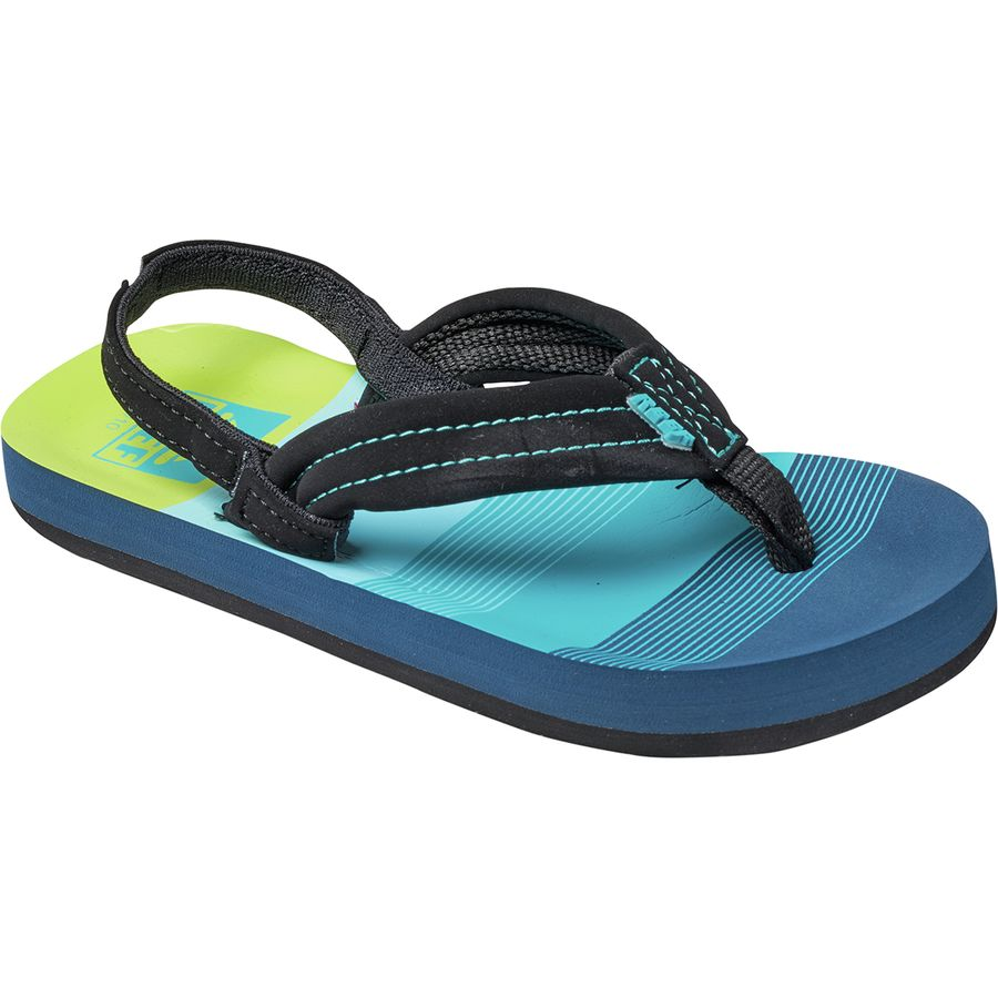 11//12 New Reef Kid/'s Little Ahi  Sandals Blue Boy/'s Size 7//8 9//10