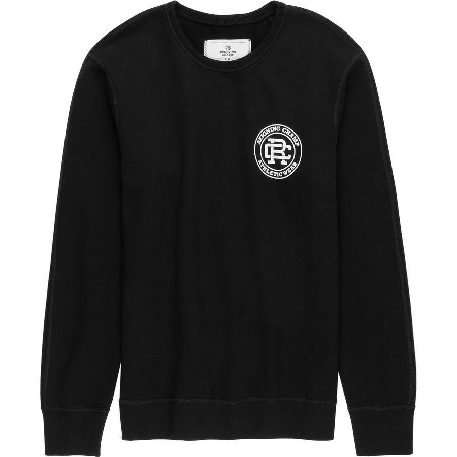 Reigning Champ Crest Logo Crewneck Sweatshirt - Mens