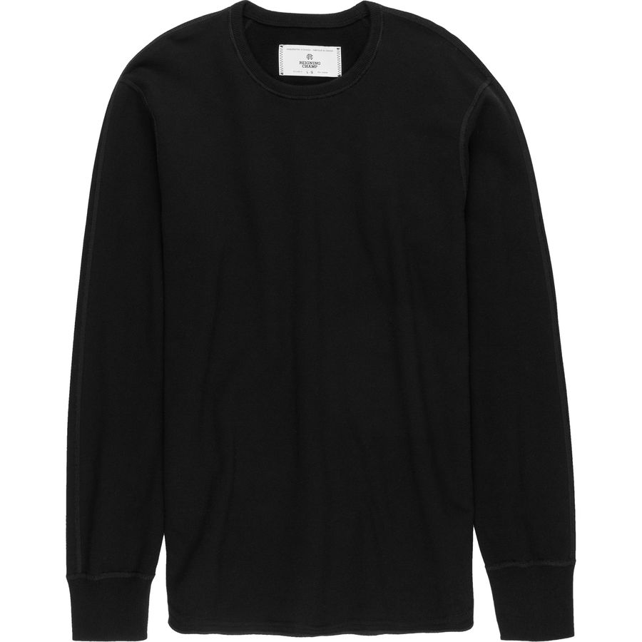 Reigning Champ Scalloped Crewneck Sweatshirt - Mens