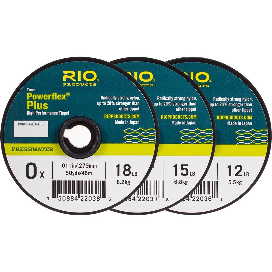 Rio Powerflex Plus Fly Fishing Tippet 3 Pack