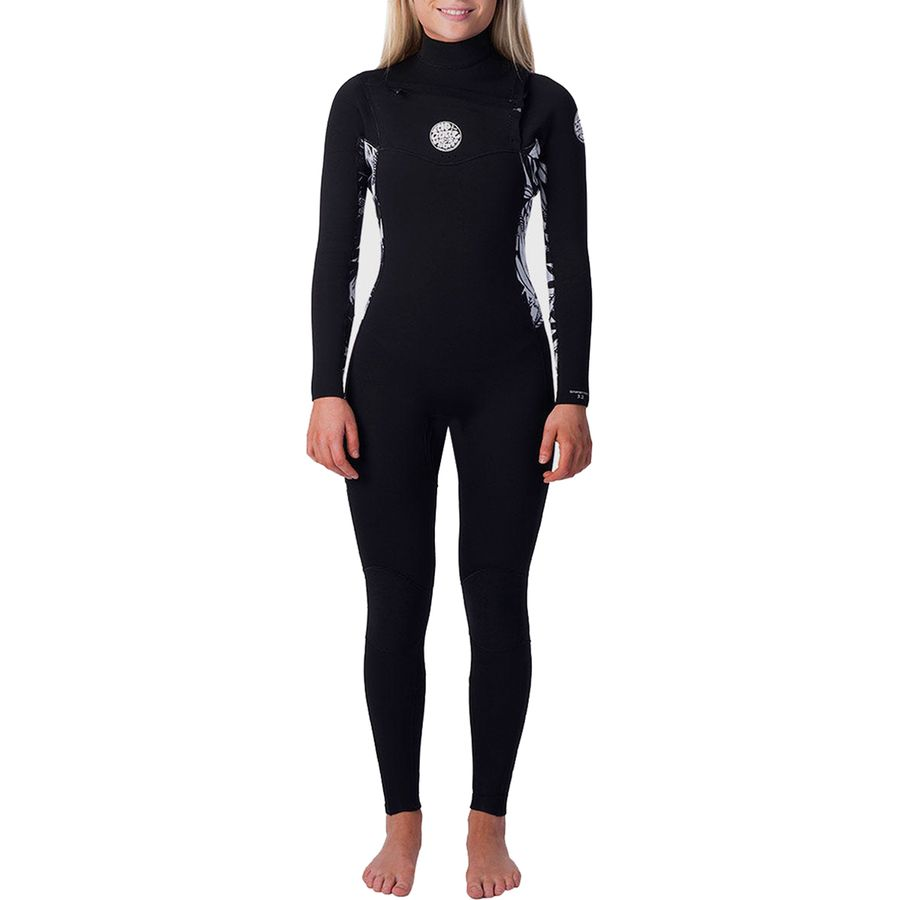 Women/'s Rip Curl Dawn Patrol 3//2 Chest-Zip Full Wetsuit