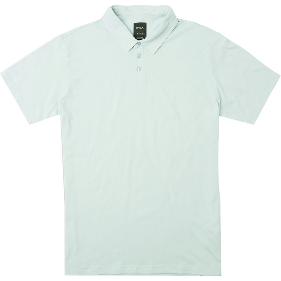 Rvca Sure Thing Ii Polo Shirt Men S Ether Blue