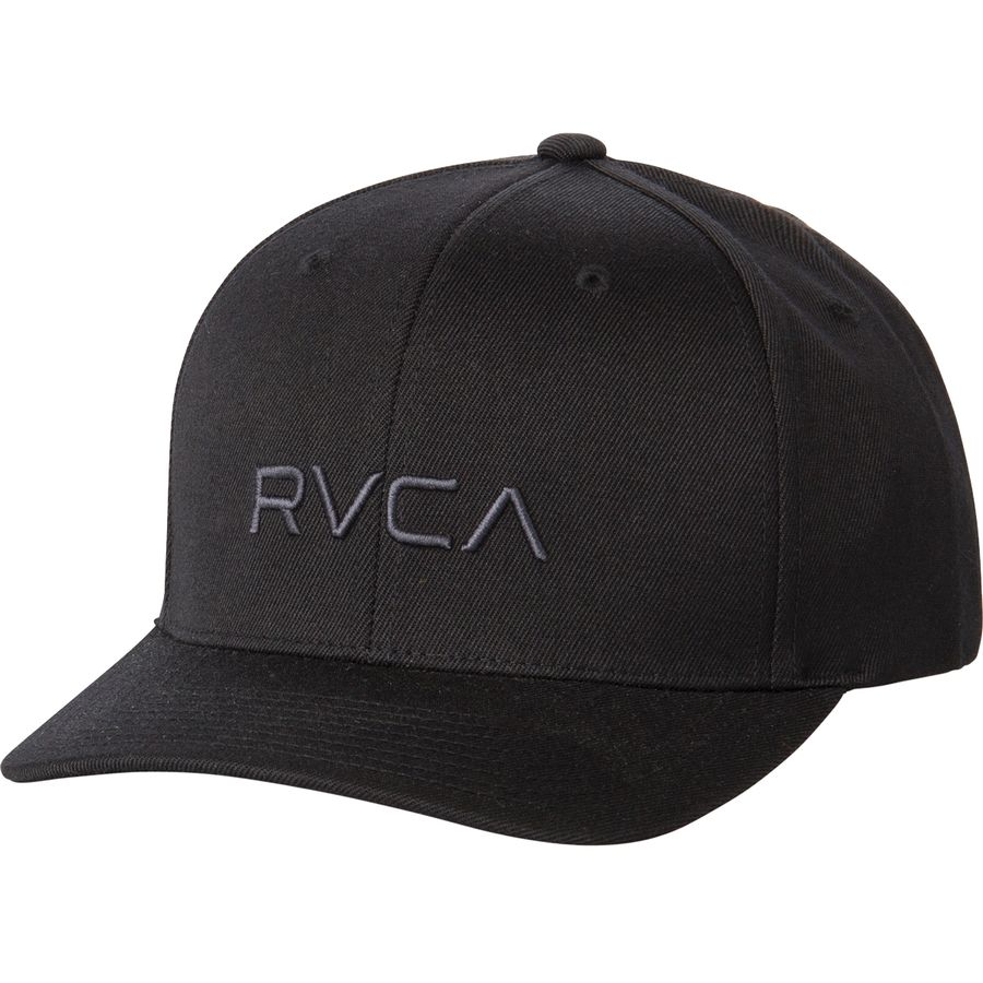 RVCA - Flex Fit Baseball Cap - Men s - Black 1ae3680ea299