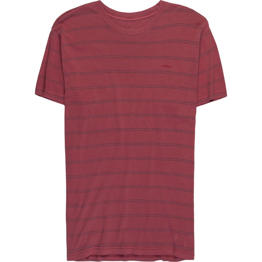 RVCA Double Stripe Overdy T-Shirt - Mens