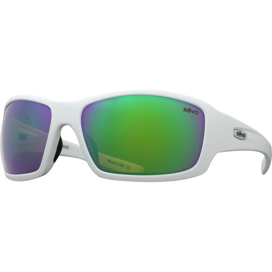 686b661079 Revo - Bearing Polarized Sunglasses - Matte White Green Water