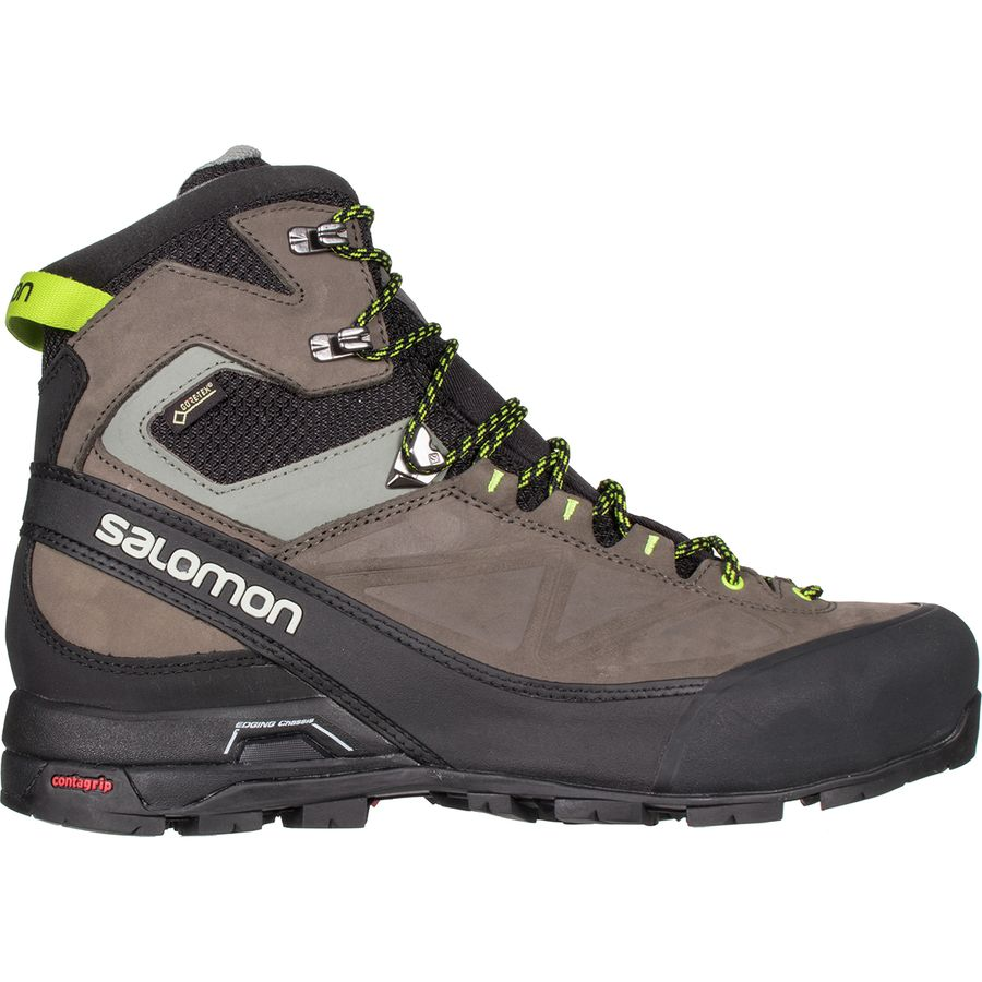 Salomon X Alp MTN GTX Boot Mens BlackBelugaLime Punch
