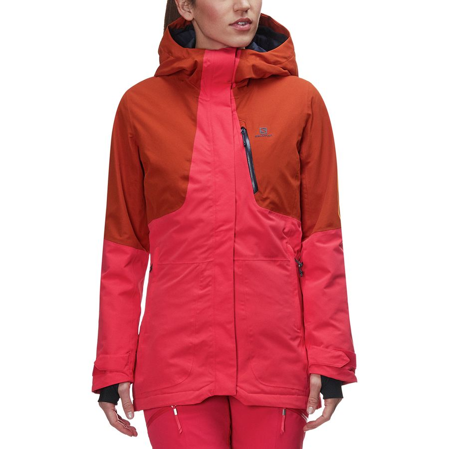 Salomon - QST Snow Jacket - Women s - Hibiscus Umber e4759904e