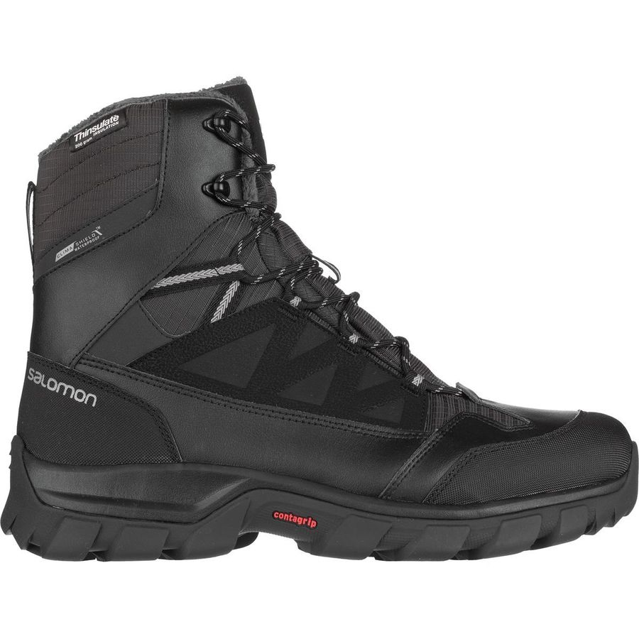 Salomon - Chalten TS CS Waterproof Boot - Men's - Black/Asphalt/Pewter