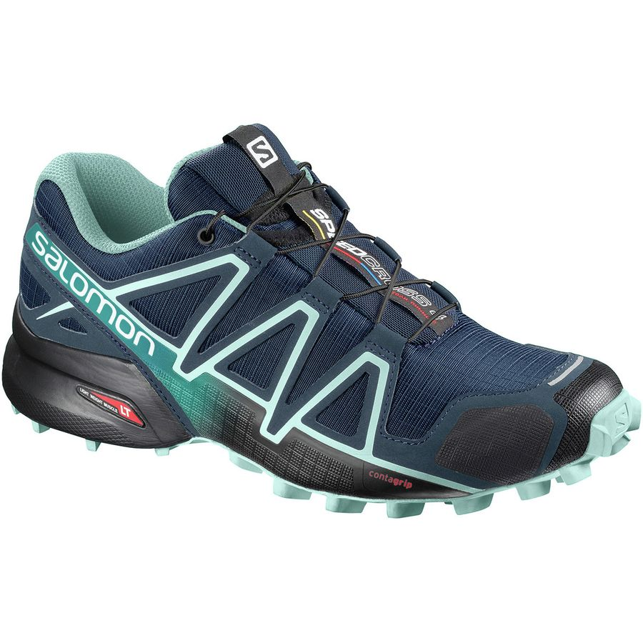 Salomon - Speedcross 4 Trail Running Shoe - Women s - Poseidon Eggshell  Blue Black 0dc51c8f7