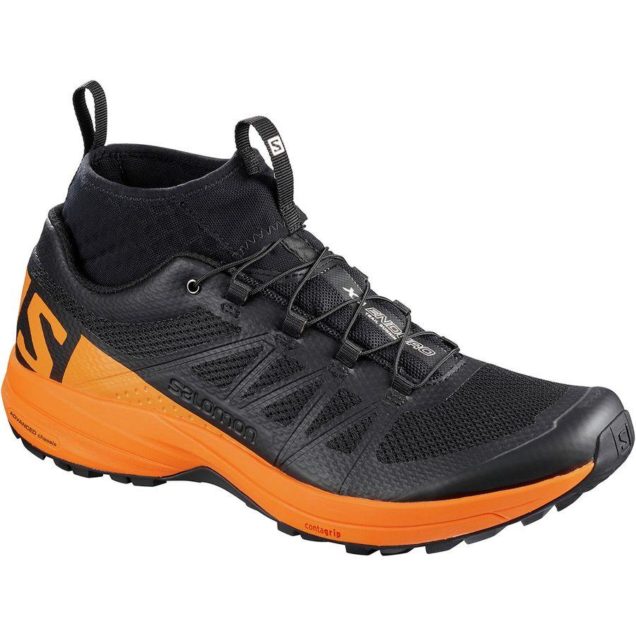 New Sale Men's Running Shoes Salomon XA Enduro Trail Running Shoe Black/Lime Green/Black