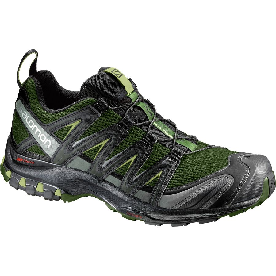 Salomon XA Pro 3D Trail Running Shoe Mens ChiveBlackBeluga