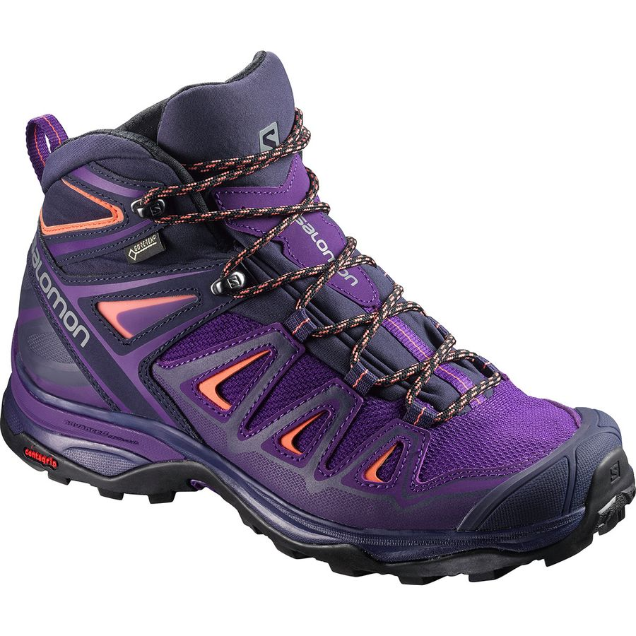 Salomon - X Ultra Mid 3 GTX Hiking Boot - Women's - Acai/Evening Blue