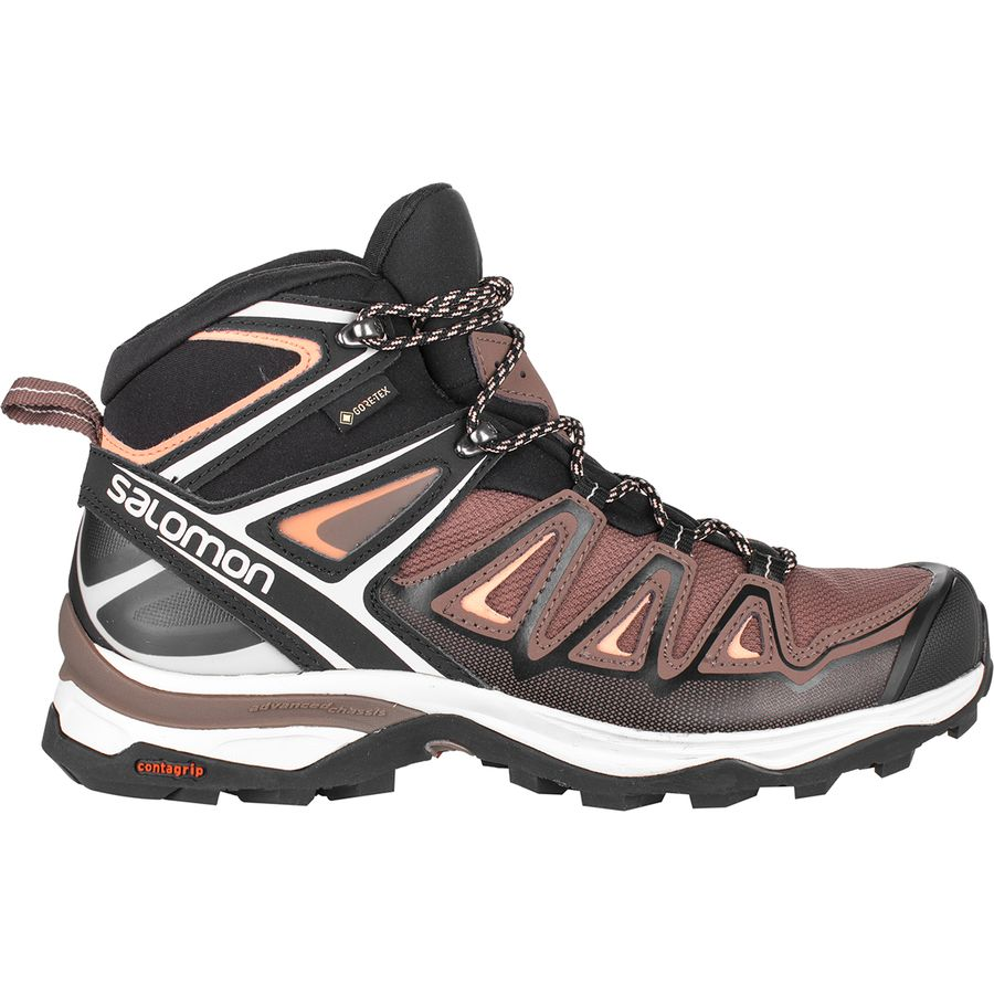 Salomon X Ultra 3 Mid GTX W peppercornblackcoral almond au