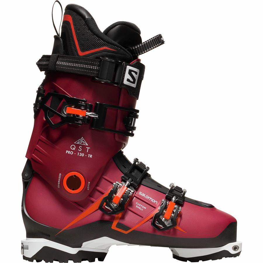 Salomon - QST Pro 130 TR Ski Boot - Pomegranate Black Orange 7e9768d96