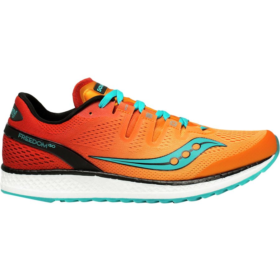 huge discount e501a bc74b Saucony - Freedom ISO Running Shoe - Men s - Orange Red Teal