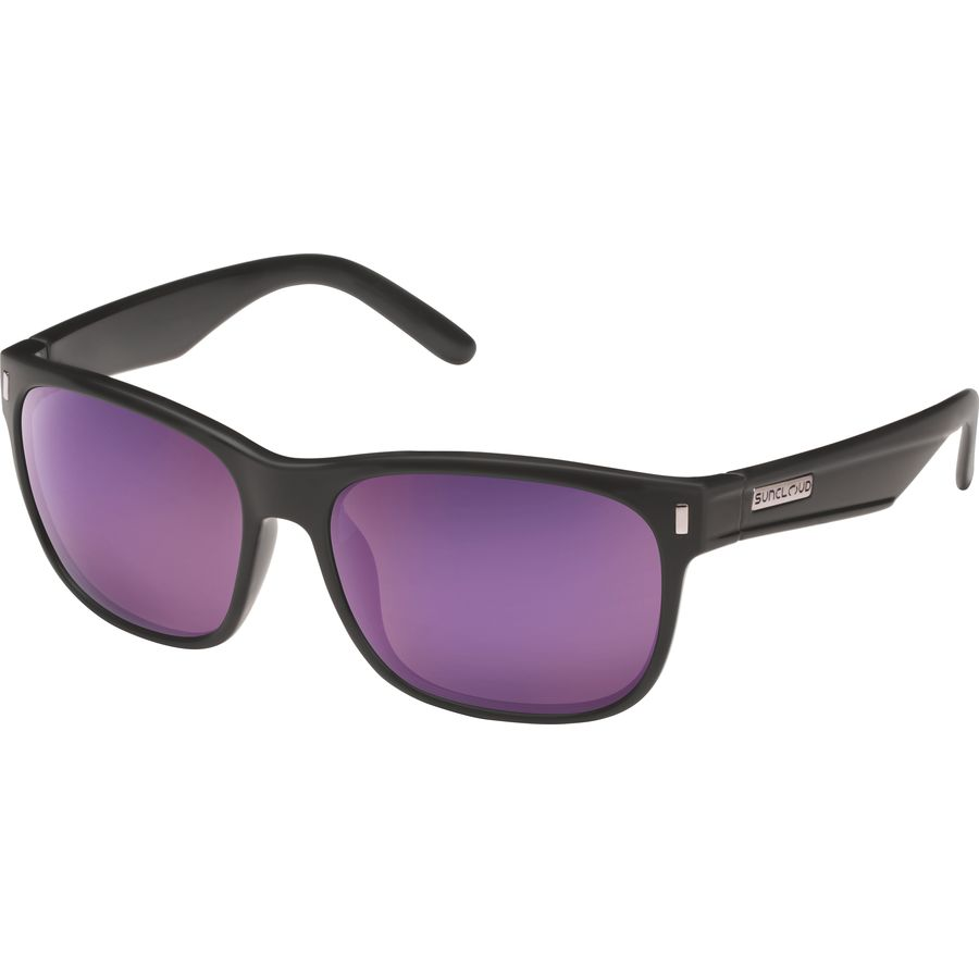a573d0daf1c Suncloud Polarized Optics - Dashboard Polarized Sunglasses - Matte  Black Purple Mirror