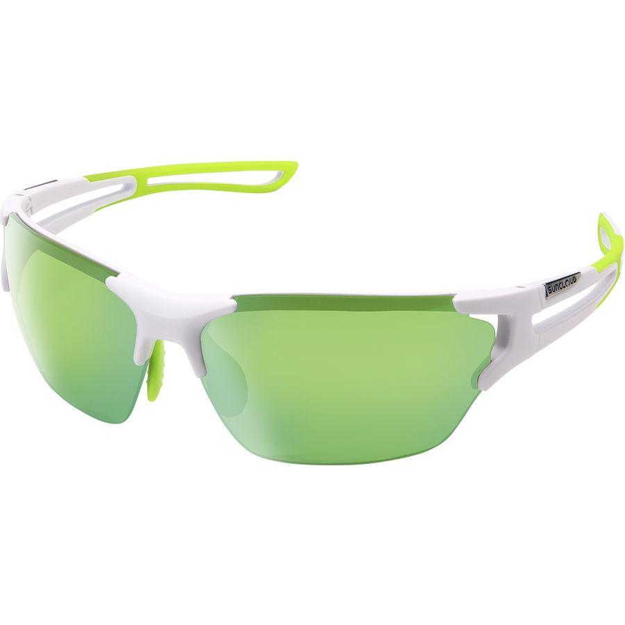 51627b022c Suncloud Polarized Optics - Cutback Polarized Sunglasses - Matte  White Green Mirror Polycarbonate Contrast