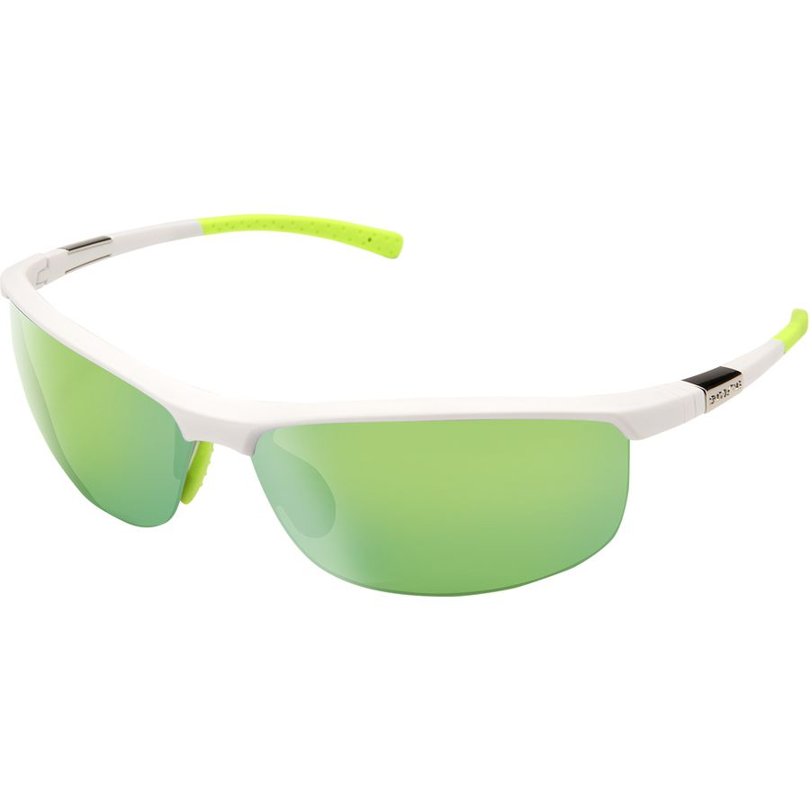 e8fb45576f4 Suncloud Polarized Optics - Tension Polarized Sunglasses - Matte  White Green Mirror Polycarbonate Contrast
