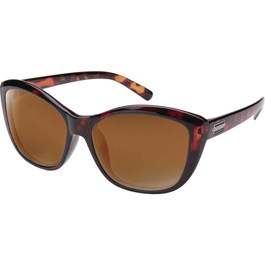 2b27512c511 Suncloud Polarized Optics - Skyline Polarized Sunglasses - Women s -  Tortoise Polarized Brown