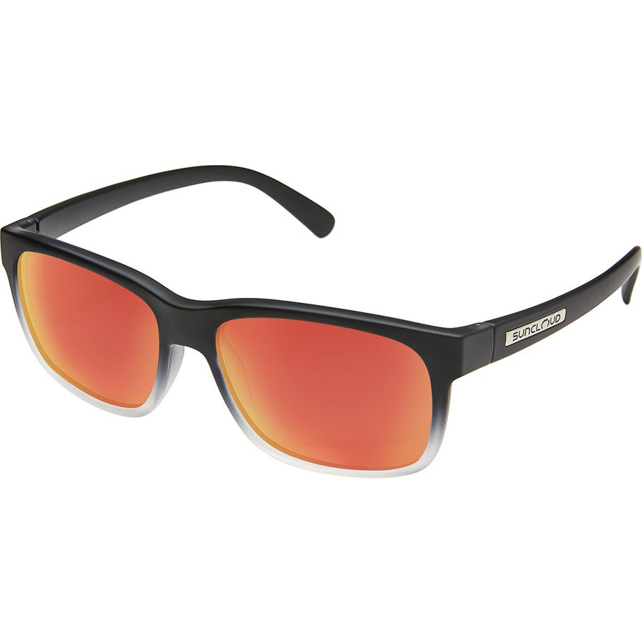59b78e51f59 Suncloud Polarized Optics - Stand Polarized Sunglasses - Black Crystal  Fade Polar Red Mirror