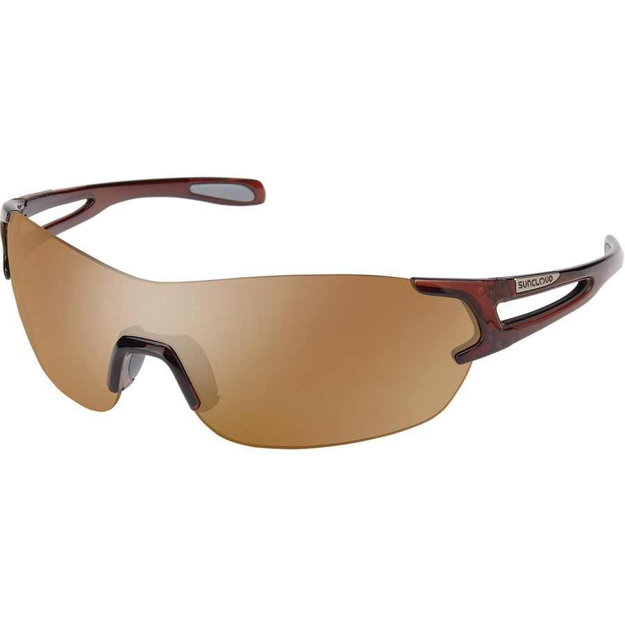 4a3ec76c46d Suncloud Polarized Optics - Airway Polarized Sunglasses - Crystal Brown  Polarized Sienna Mirror