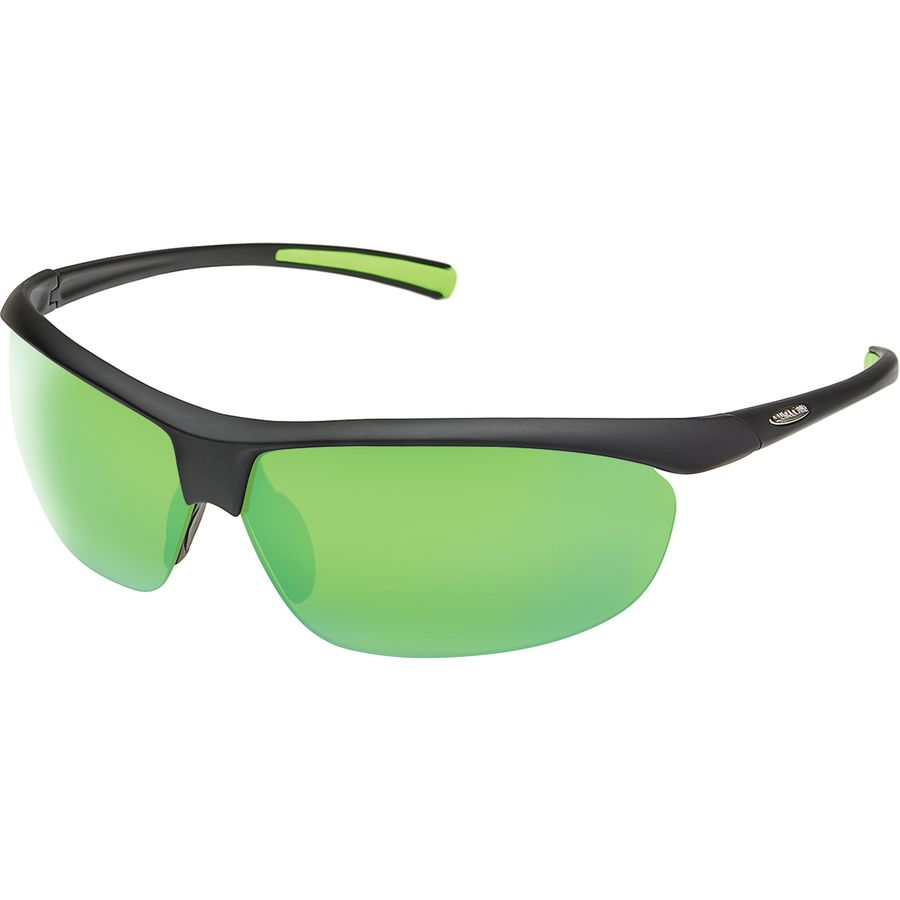 d90de00b3e1 Suncloud Polarized Optics - Zephyr Polarized Sunglasses - Matte Black Polar  Green Mirror