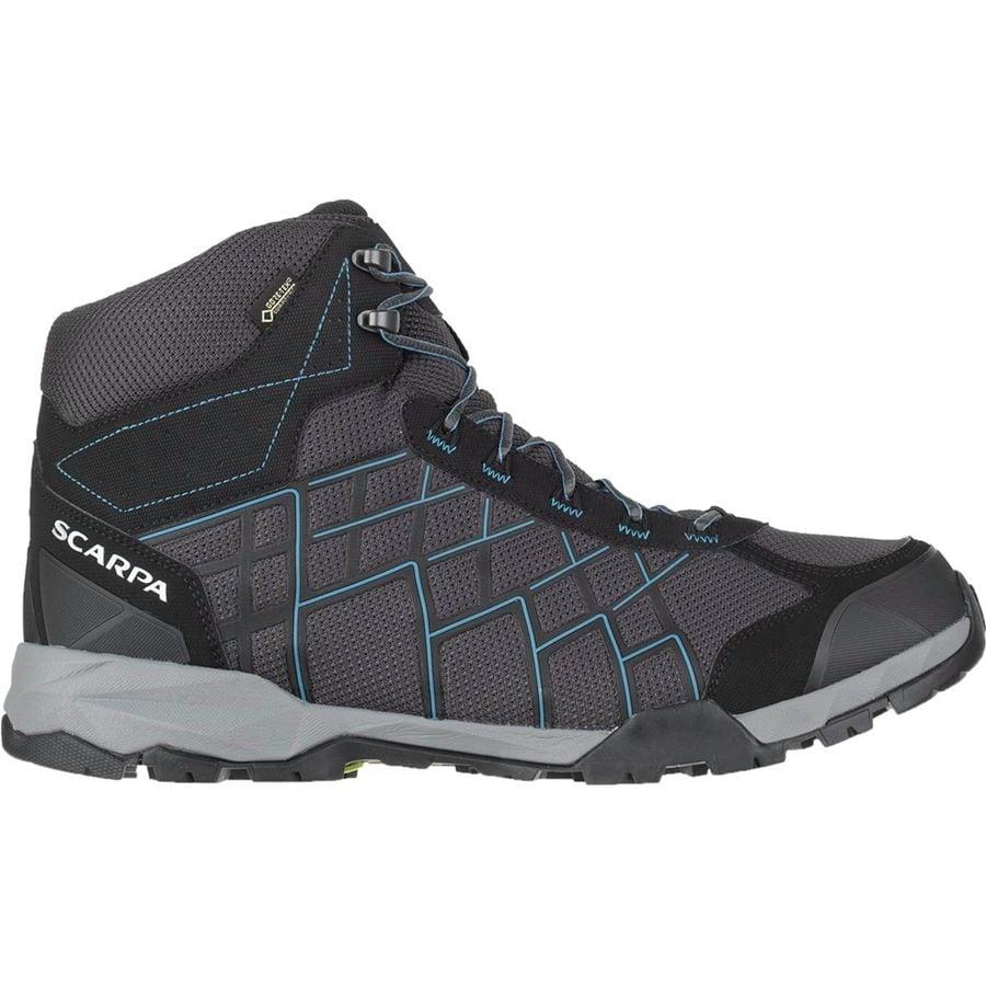 brand new 2b840 027b2 336609-002  terminator-hi-basic-grey-purple1  Scarpa - Hydrogen Hike GTX  Boot - Men s - Dark Grey Lake Blue ...