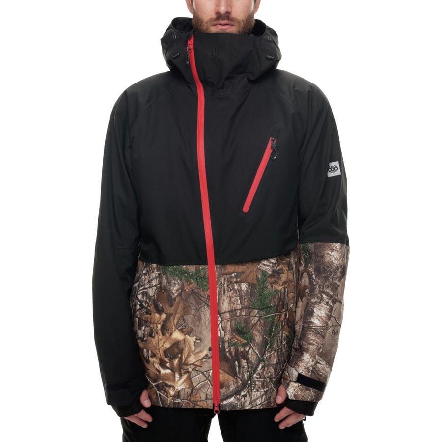 Orange snowboard jacket men's