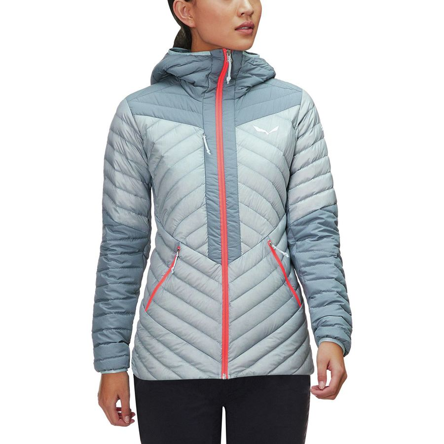 Salewa - Ortles Light 2 Down Hooded Jacket - Women s - Flint Stone 0340 77248af7670